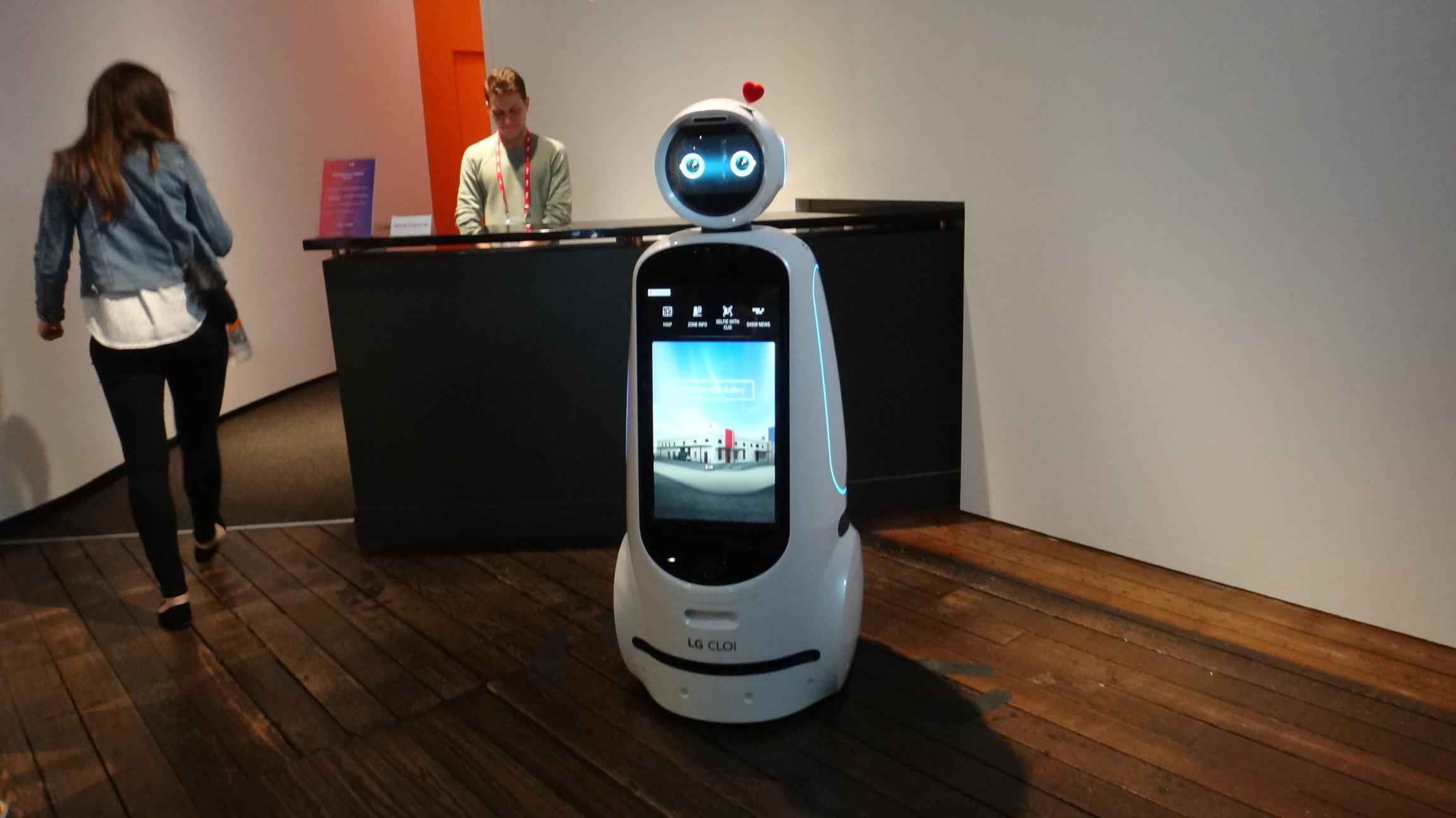 意外とデカいLGのロボット